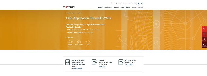 FORTINET Web Application Firewall