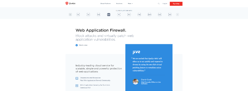 QUALYS Web Application Firewall