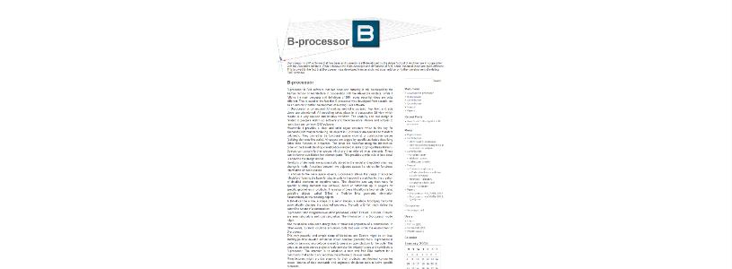 B-PROCESSOR